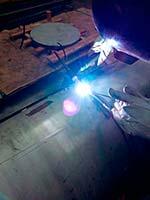 Caldeiraria industrial de peças